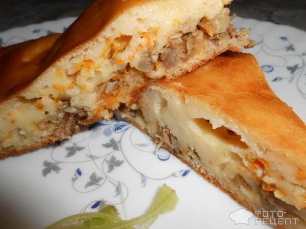 Пирог с вареной рыбой рецепт