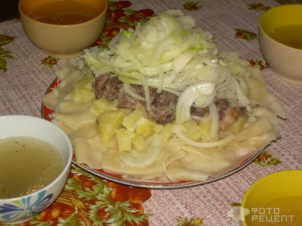 Пошаговый рецепт бешбармака