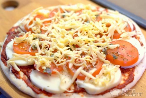Пицца с моцареллой и помидорами рецепт пошагово в духовке