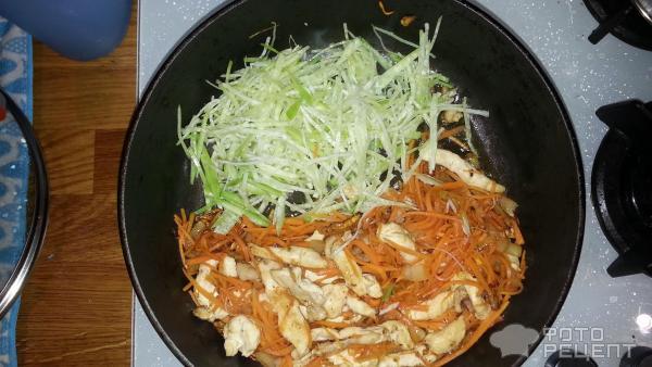 лапша по-китайски с курицей и овощами рецепт с фото