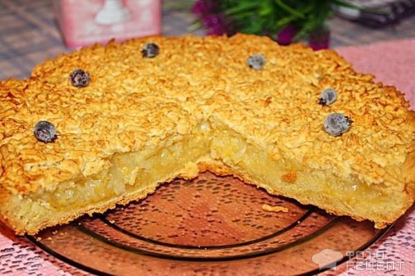 Лимонный пирог без яиц