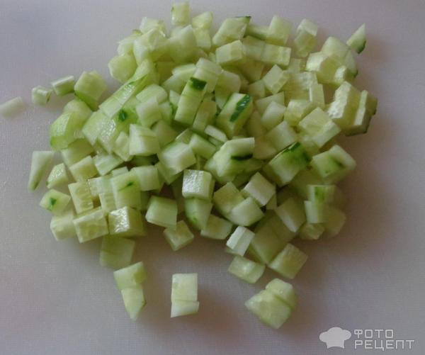 Салат с белой фасолью фото