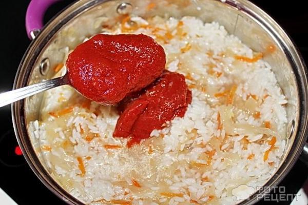 Квашеная капуста тушеная с рисом