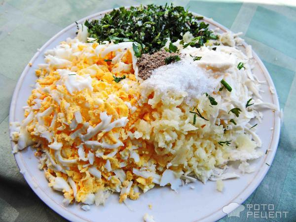 Зразы с яйцами и сыром фото
