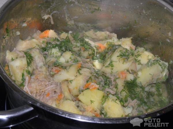 Тушёная картошка с тушёнкой в кастрюле пошаговый рецепт