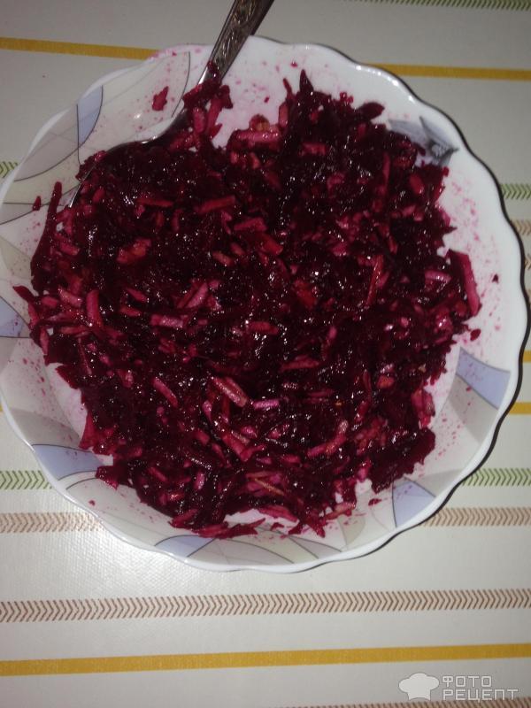 Свекольный салат Витаминный фото
