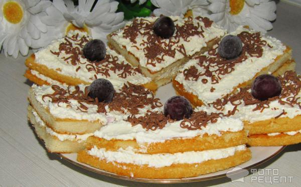 Торты и перожное из готовых коржей с фото