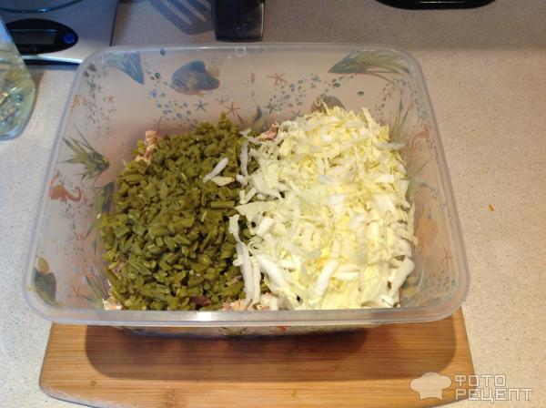 Салат с горбушей и фасолью рецепты