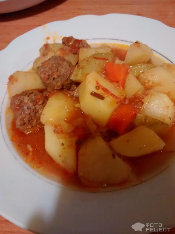 Овощное рагу с фрикадельками рецепт с фото