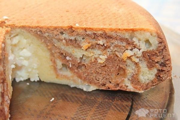 Пирог зебра пошаговый рецепт с на кефире
