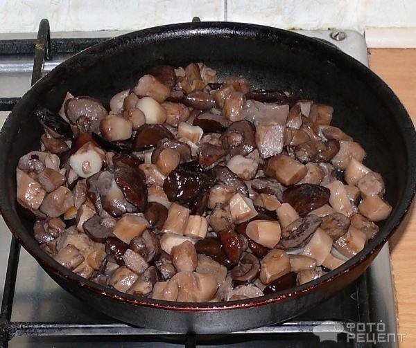 Жареные лесные грибы рецепт с фото