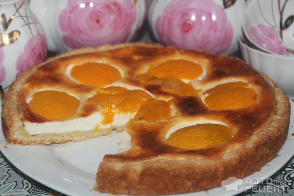 107Рецепт творожного пирога с персиками консервированными