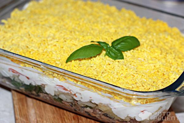 Салат мимоза с орехами рецепт