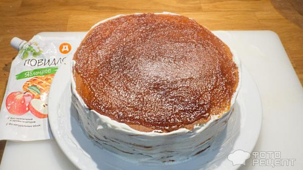 Молочный торт на сковороде