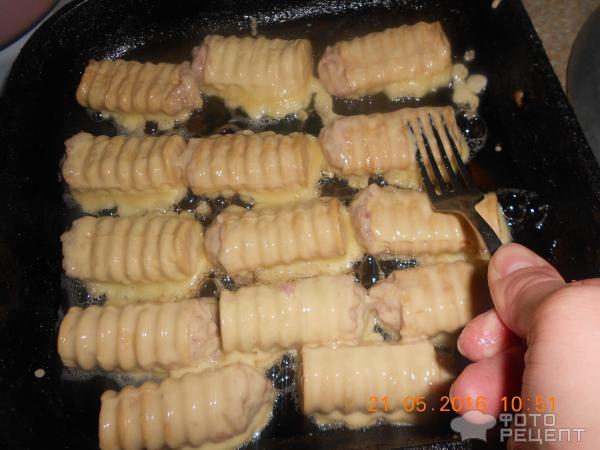 Вафельные трубочки в духовке рецепт с фото