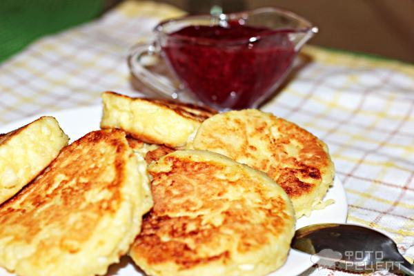 Сырники с яблоками фото