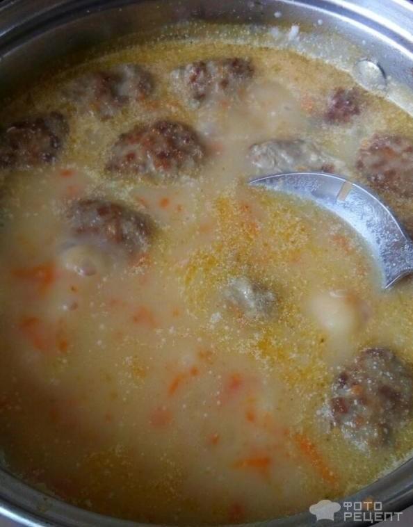 Сырный суп с фрикадельками пошаговый рецепт с