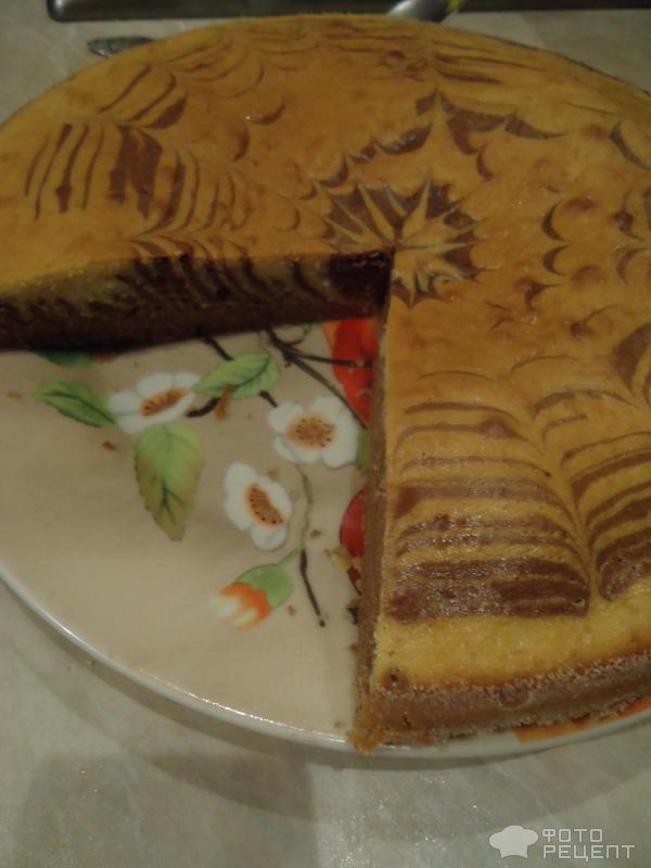 Торт зебра из 3 яиц