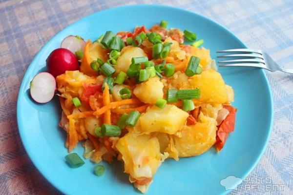 Овощное рагу постное рецепт