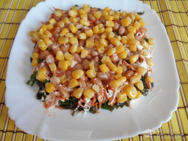 Рецепты салатов из морской капусты и фасоли в фото