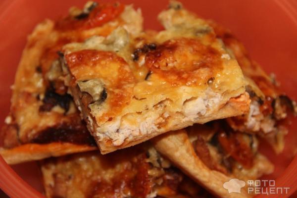 Пицца рецепт с шампиньонами и курицей рецепт