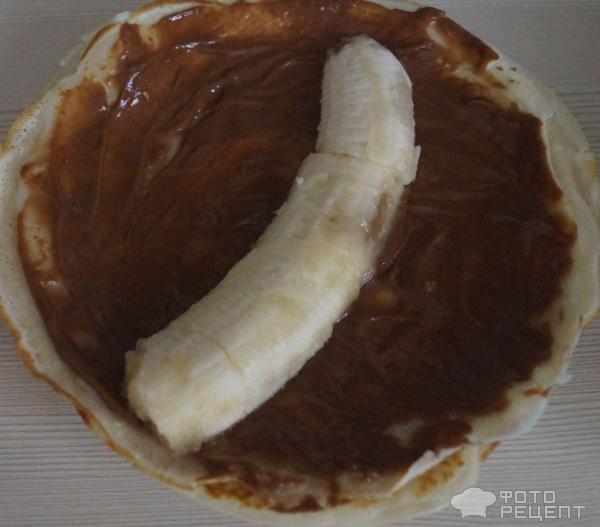 Блины с бананом и шоколадом фото