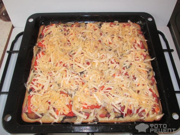Рецепт быстрой пиццы с жидким тестом