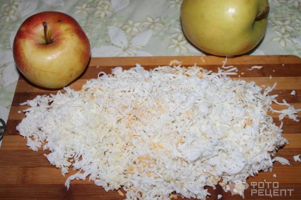 Салат мимоза с яблоком рецепт с фото