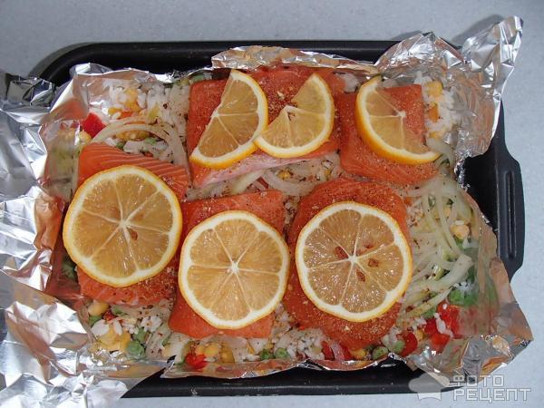 стейк из семги с лимоном в духовке в фольге рецепт с фото