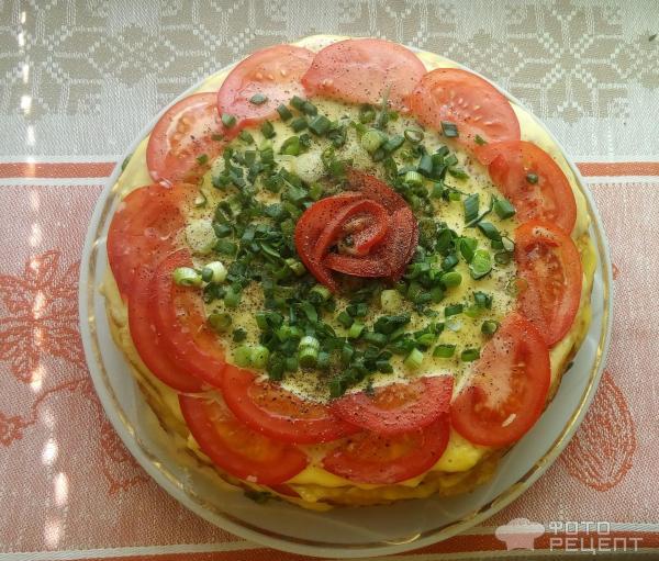 Торт из кабачков рецепт пошагово с помидорами