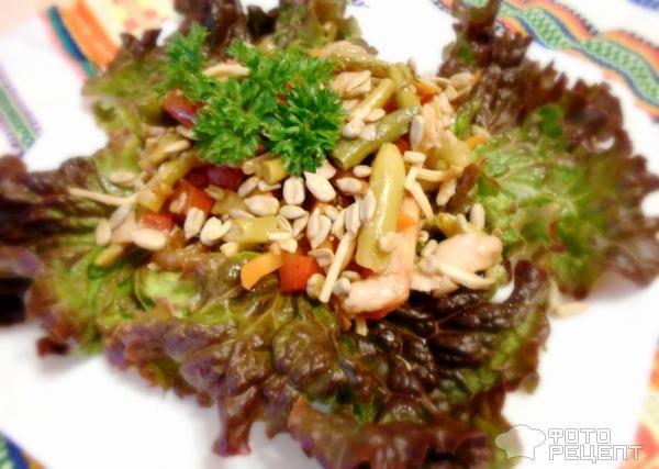 Теплый салат с говядиной и стручковой фасолью рецепт