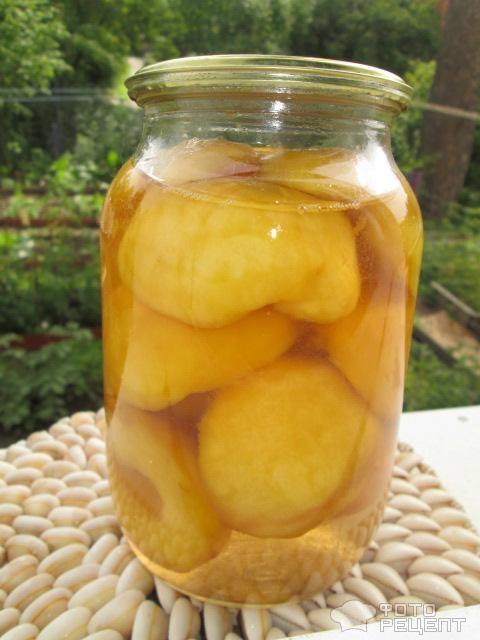 Персики консервированные в сиропе рецепт