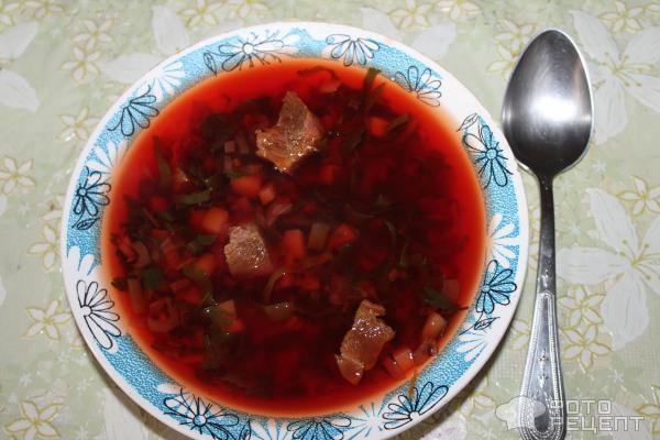 борщ рецепт классический с мясом без свеклы
