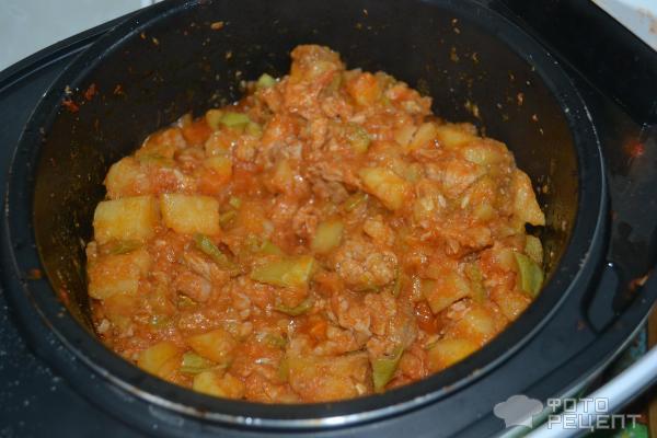 Мясное рагу с овощами в мультиварке рецепт