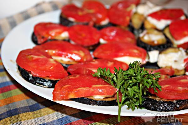 Закуска из баклажанов с помидорами и сыром рецепт