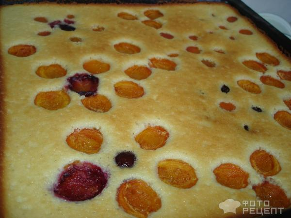 Рецепт пирога с абрикосами в духовке с фото
