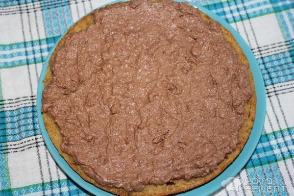 Торт Бисквитный с шоколадным кремом фото