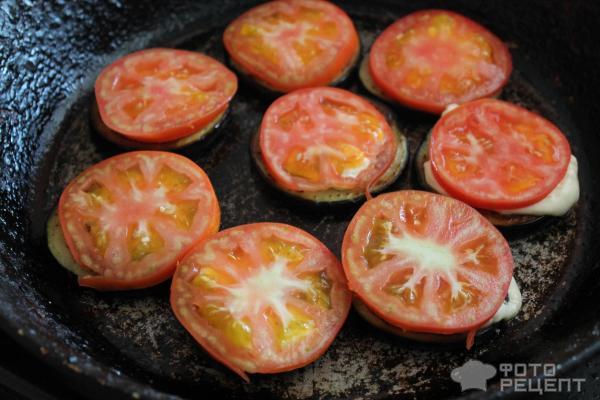 Жареные помидоры с чесноком рецепт пошагово в духовке