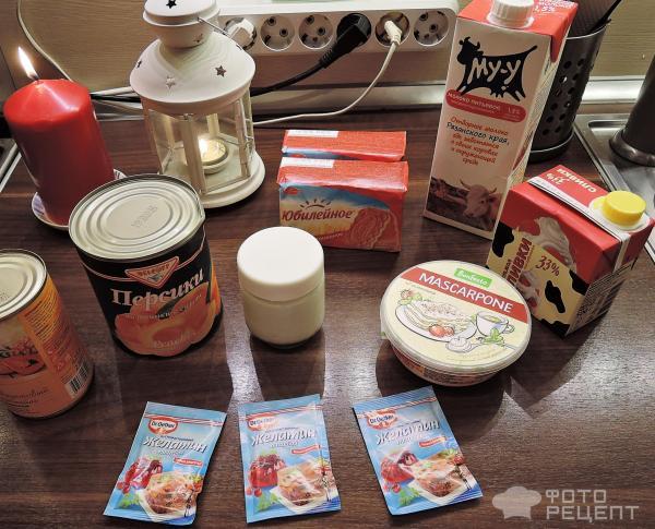 Чизкейк с персиками (без выпечки) фото