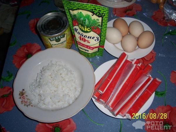 Салаты из крабовых палочек без кукурузы рецепты с простые и вкусные