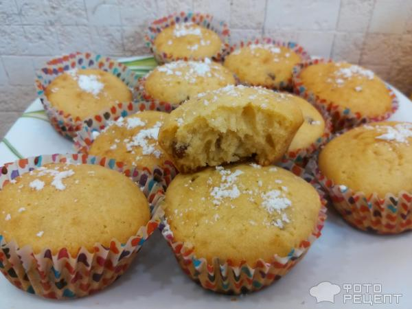 Рецепт кексов с изюмом в бумажных формочках с фото пошагово