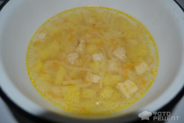 Куриный суп с вермишелью фото