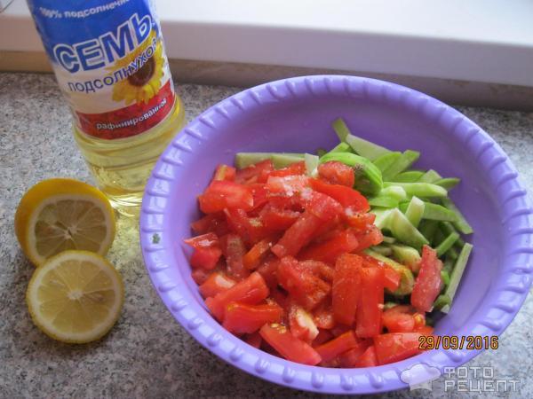 Салат из помидор зеленых и перцы на зиму