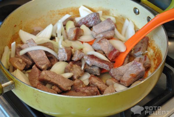 Капуста тушеная со свининой рецепт