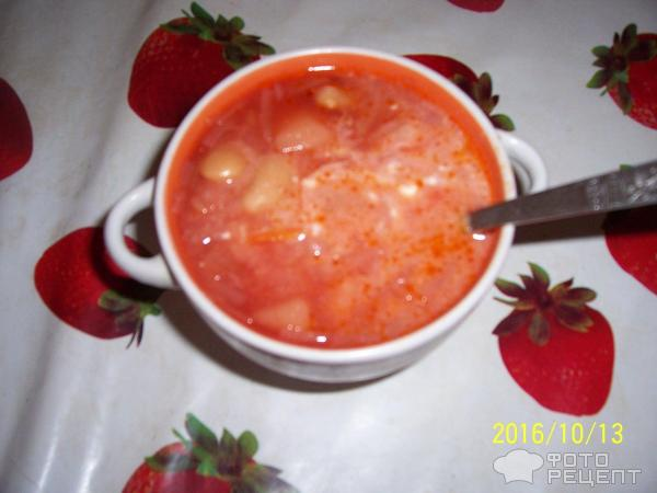 Борщ с сухой фасолью рецепт пошаговый