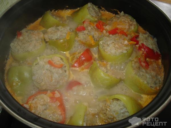 Фаршированный перец рецепт с фаршем фото пошагово