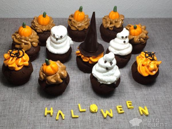Капкейки Хэллоуин фото