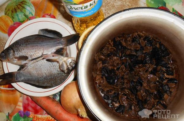 Рыба с грибами - 7 пошаговых фото в рецепте | 397x600