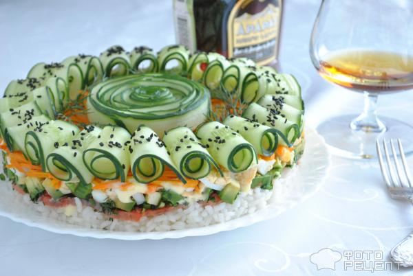 Суши-торт фото