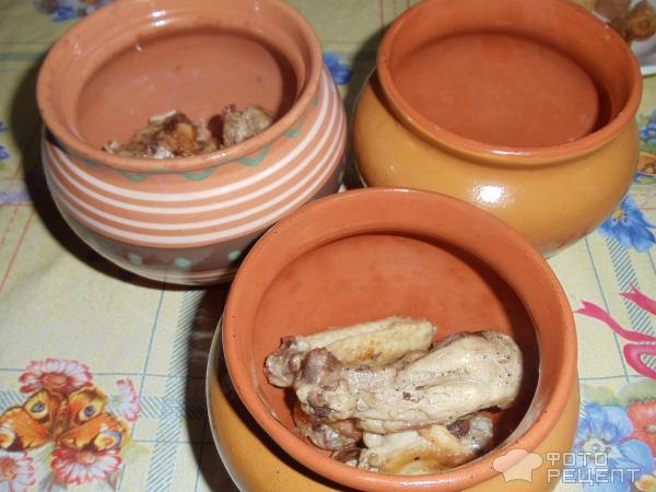 Жаркое в горшочках из теста в духовке рецепт пошагово